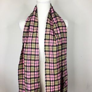 Accessories - 100% cashmere plaid scarf